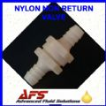Nylon 6mm Straight Non Return Valve - (1/4) Fuel Check Valve Air Water Pipe Tube Hose